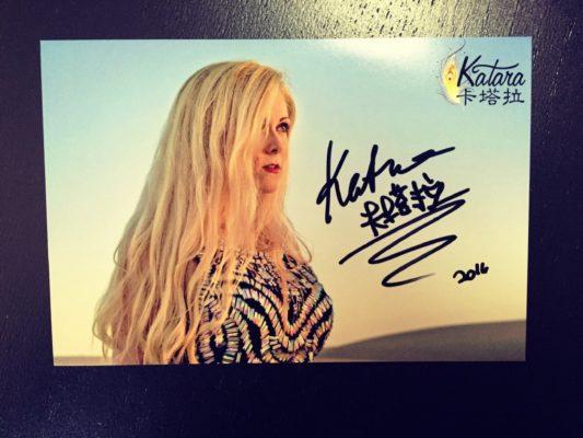 Katara's Autographed Photo
